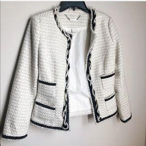 White House Black Market Preppy Tweed Blazer